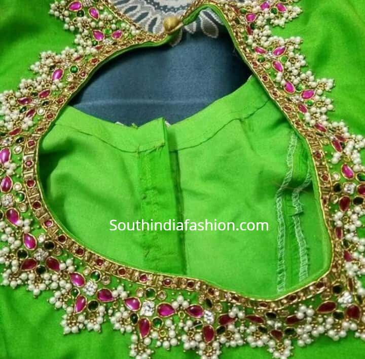 guttapusalu work blouse designs