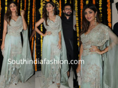 shilpa shetty in anamika khanna dress at ekta kapoor diwali party