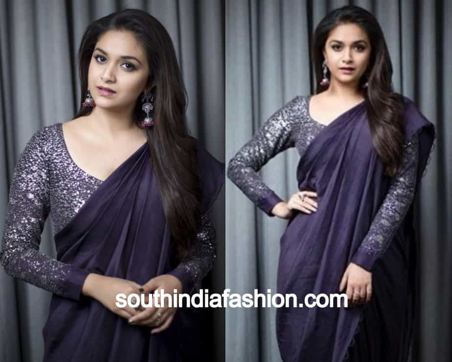 shimmery blouse for soft silk sarees