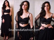 shraddha kapoor black dress in shah rukh khan diwali party