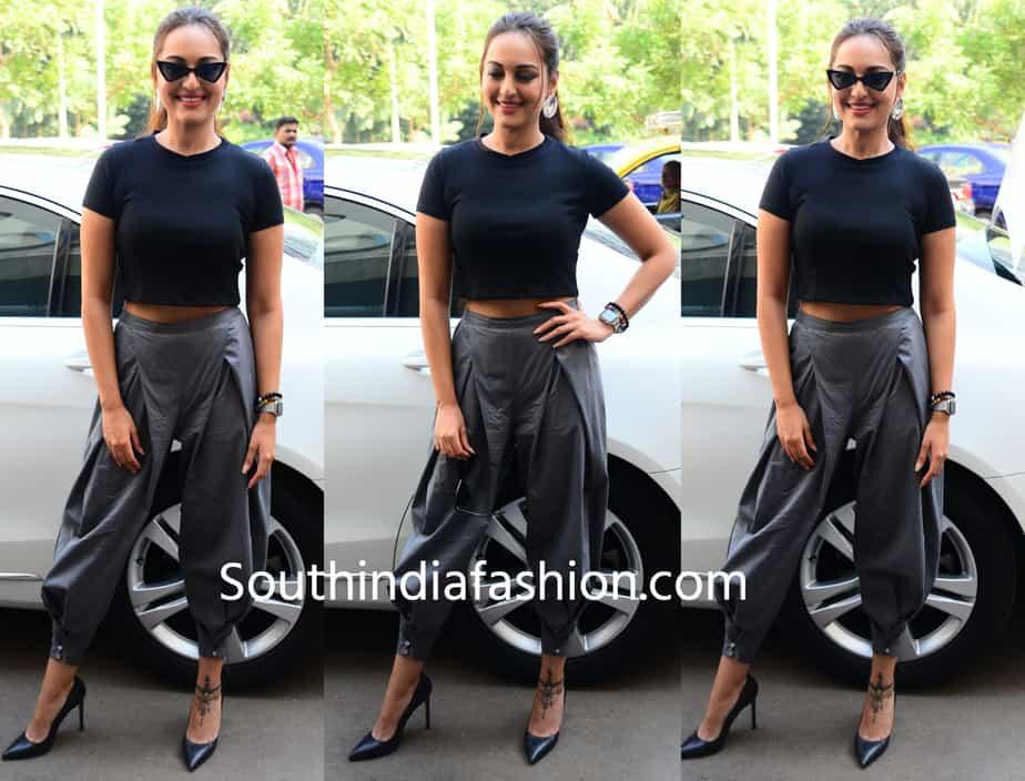 sonakshi sinha dhoti pants crop top