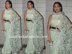 sonal chauhan saree with belt