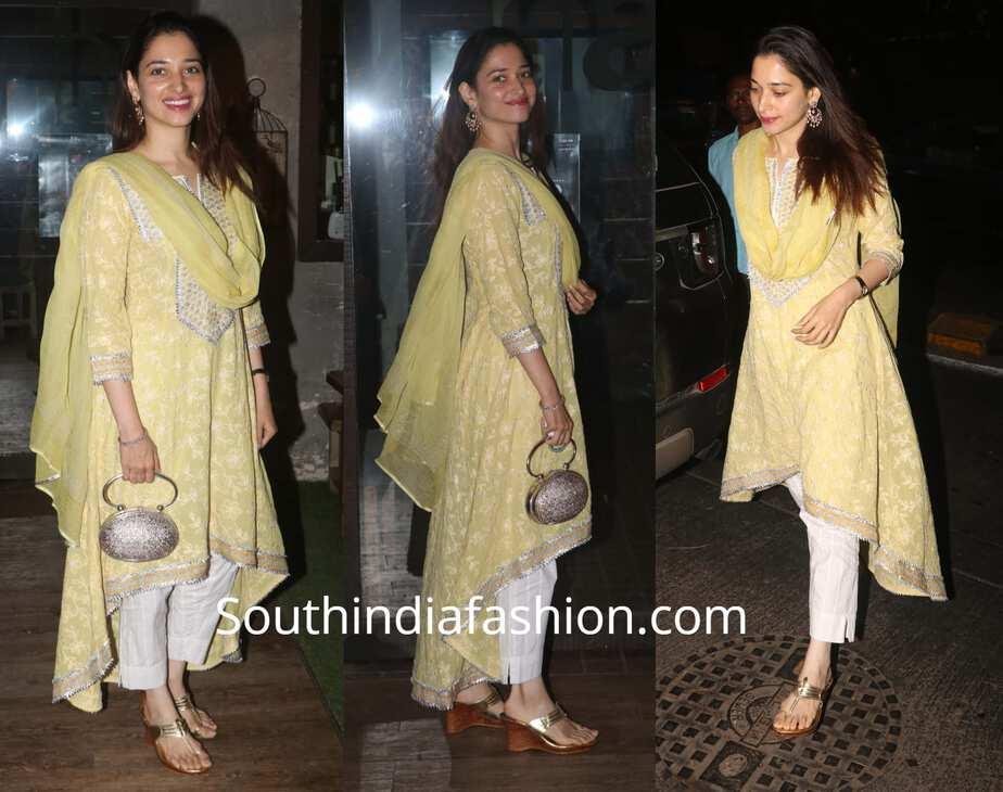 tamannaah bhatia yellow salwar suit
