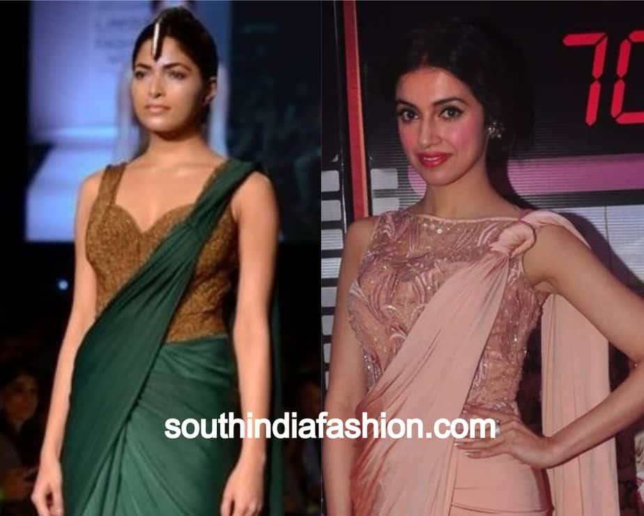saree drape with twisted pallu