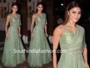 urvashi rautela mint green gown