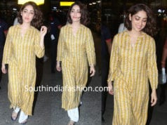 yami gautam in yellow kurta by global desi