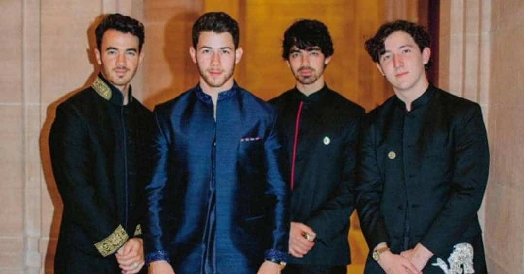 jonas brothers at priyanka chopra wedding
