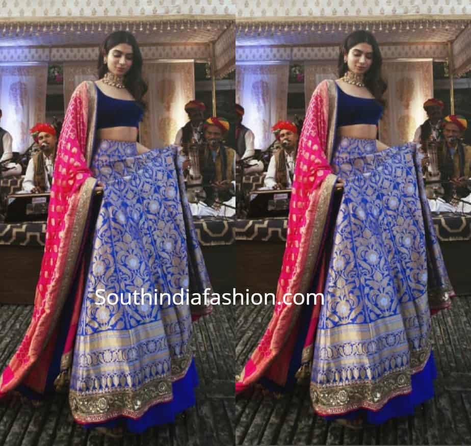 KHUSHI KAPOOR IN BLUE LEHENGA AT ISHA AMBANI WEDDING