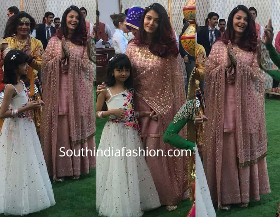 aishwarya and aaradhya at isha ambani pre wedding celebrations