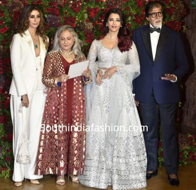 bachchan family at Deepika-Ranveer wedding reception