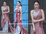 amruta khanvilkar fusion saree drape
