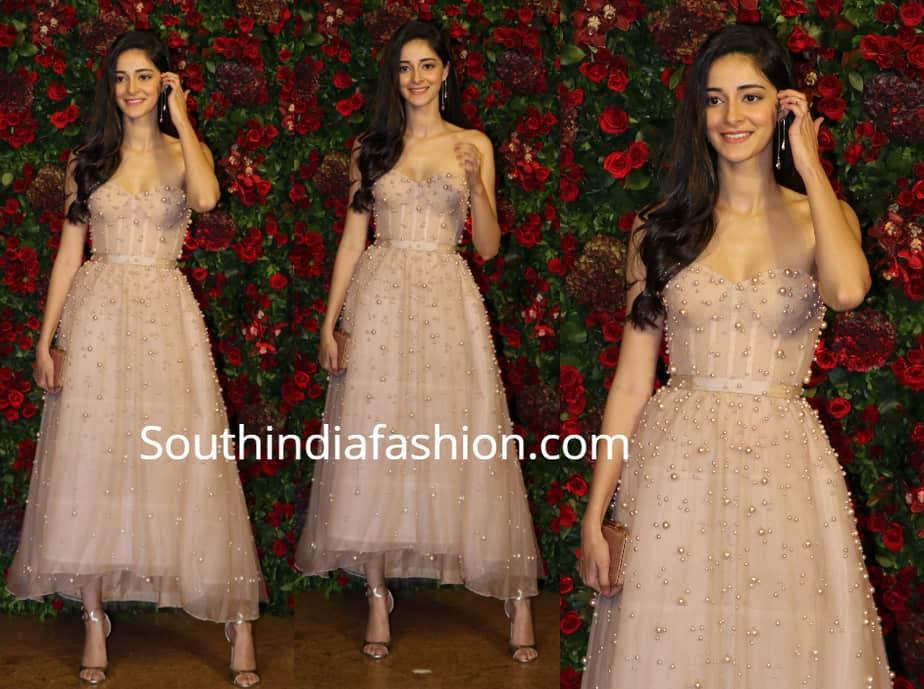ananya panday dress in deepika ranveer wedding reception