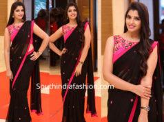 anchor syamala black saree pink blouse