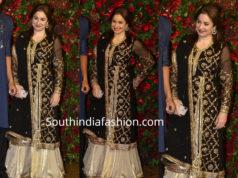 anjali tendulkar black sharara deepika ranveer wedding reception