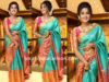anupama parameswaran silk saree vrk silks launch
