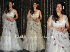 bhumi pednekar in white lehenga at priyanka chopra wedding reception