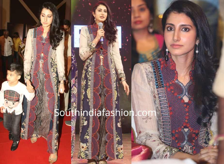 brahmani nara dress at ntr biopic audio launch