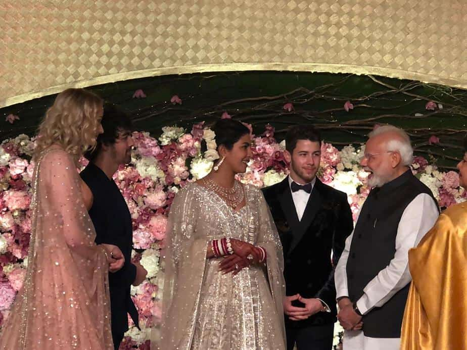 narendra modi at priyanka reception