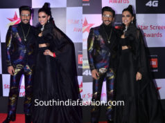 ranveer and deepika at star screen awards 2018