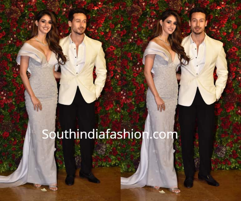 disha patani tiger shroff at deepika ranveer wedding reception