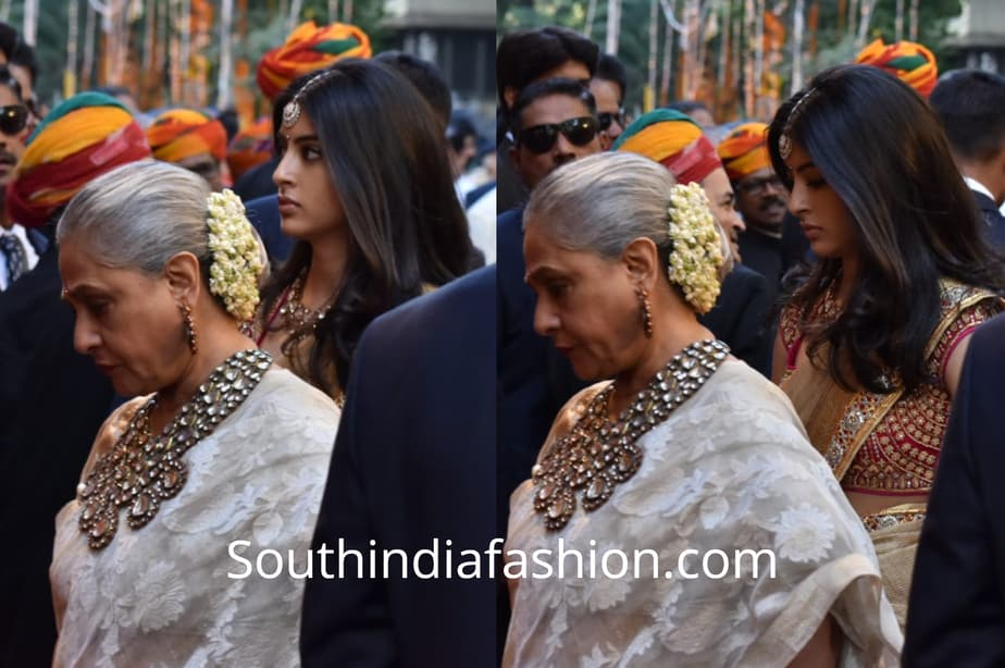 jaya bachchan and navya naveli at isha ambani wedding