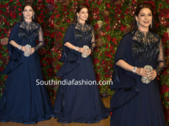 juhi chawla blue gown deepika ranveer wedding reception
