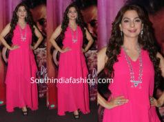 juhi chawla pink dress by AND