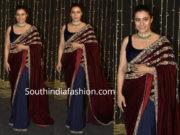 kajol in velvet saree at priyanka and nick wedding reception