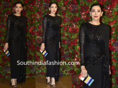 karisma kapoor black dress at deepika ranveer wedding reception