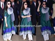 karisma kapoor in payal khandwala kurta palazzo s airport