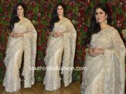 katrina kaif in anushree reddy saree at deepika ranveer wedding reception