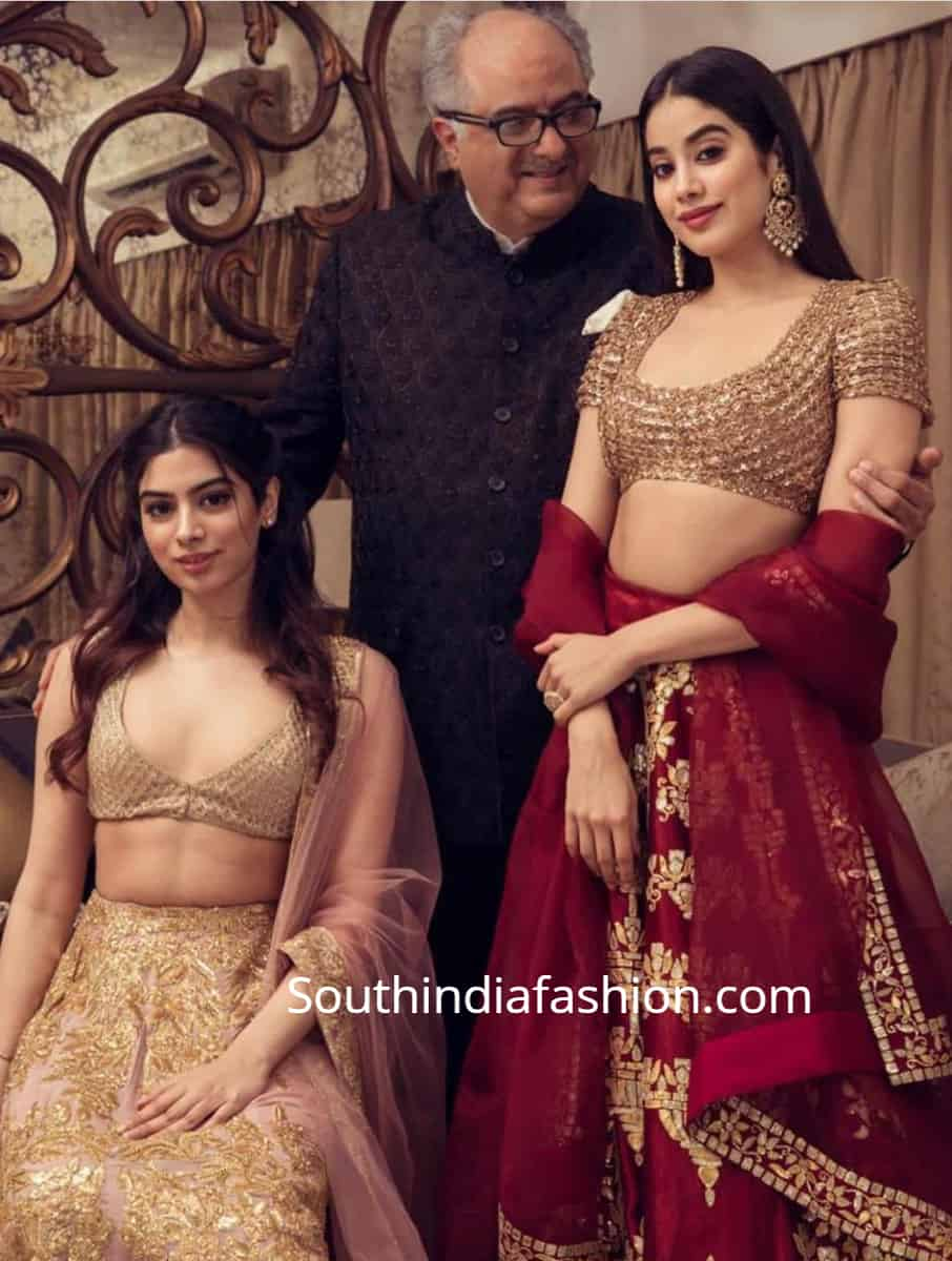 janhvi and khushi at isha ambani wedding