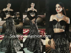 kiara advani in black lehenga at isha ambani sangeet