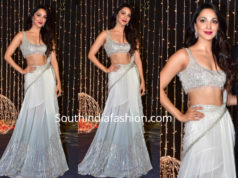 kiara advani in manish malhotra lehenga at priyanka chopra reception