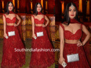 Krishna Mukherjee in red lehenga at aslam chloe wedding