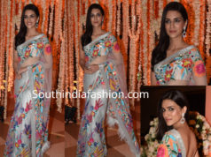 kriti sanon in manish malhotra saree at dinesh vijan wedding
