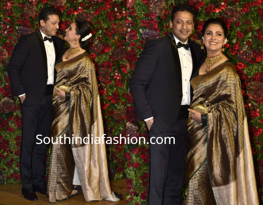 lara dutta and mahesh bhupati at deepika ranveer wedding reception