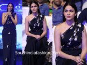 lavanya tripathi in black dress at anthariksham pre release event