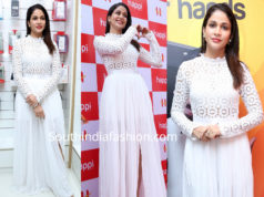 lavanya tripathi in white dress at happi mobiles launch