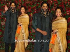 madhavan with wife sarita at deepika ranveer wedding reception