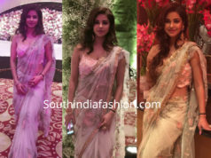 meera chopra in saree at priyanka chopra wedding reception