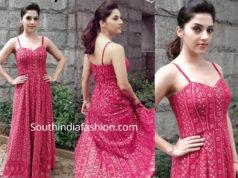 mehreen kaur pink maxi dress
