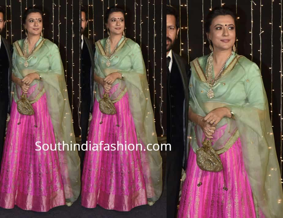 mini mathur lehenga at priyanka chopra reception