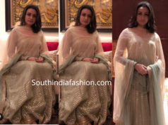 namrata shirodkar green anarkali at ss karthikeya pre wedding
