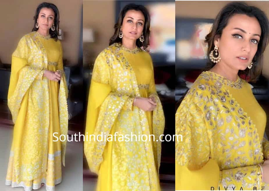 namrata shirodkar in yellow anarkali