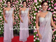 neha pendse saree at kapil sharma wedding reception