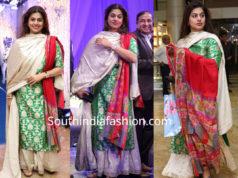 pinky reddy in a sharara suit at saina nehwal wedding reception