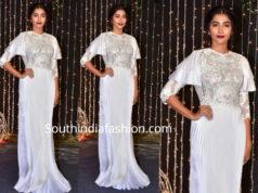 pooja hegde in a white gown at priyanka chopra wedding reception