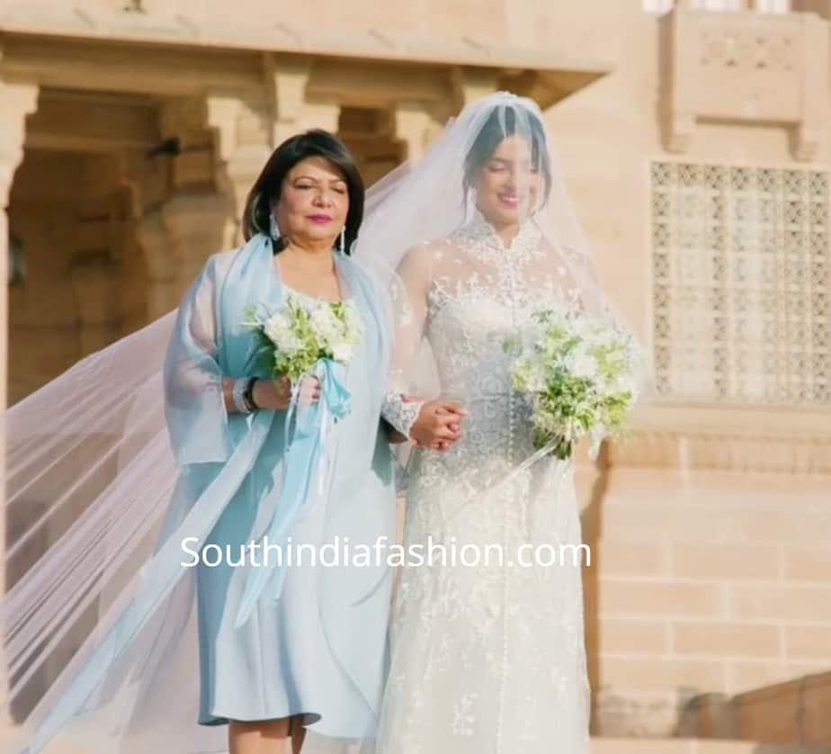priyanka chopra christian wedding dress