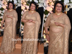 priyanka chopra madhu chopra in gold lehenga at priyanka nick wedding reception